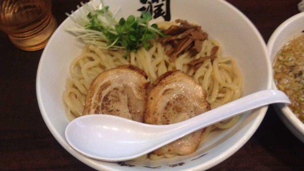 らーめん潤亀戸店のつけめん830円の麺
