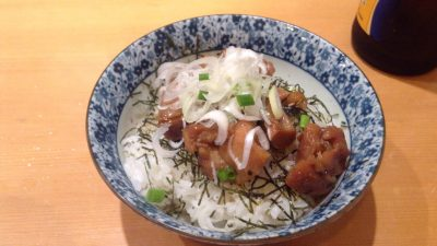 限定飯ゆがみ丼(照り焼きチキン)