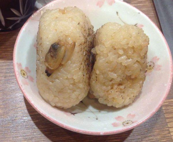 限定飯 アサリの炊き込みオニギリ