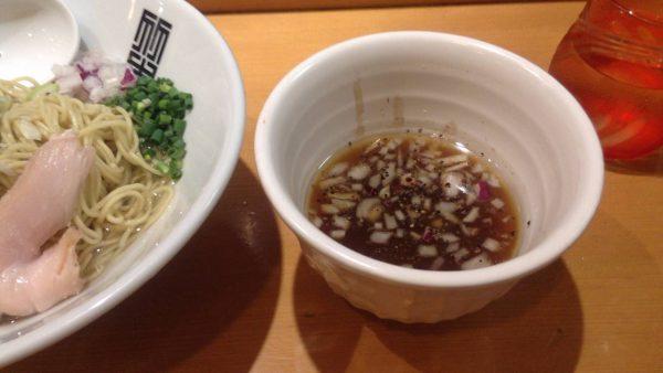竹末東京プレミアムの限定麺のスープ