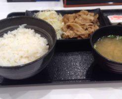 豚生姜焼定食 並 490円