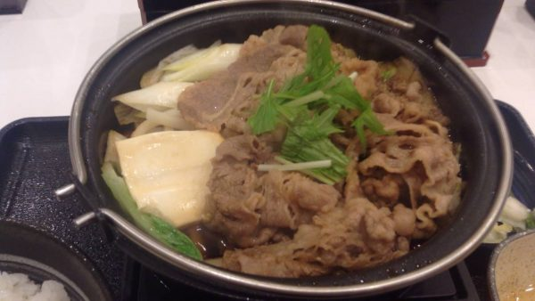 牛すき鍋膳650円 の具写真