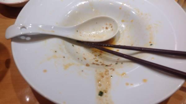 完食した図限定麺肉味噌まぜそば