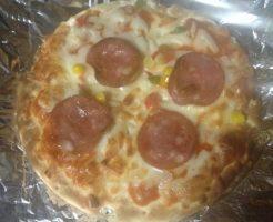 焼きたての冷凍ピザ