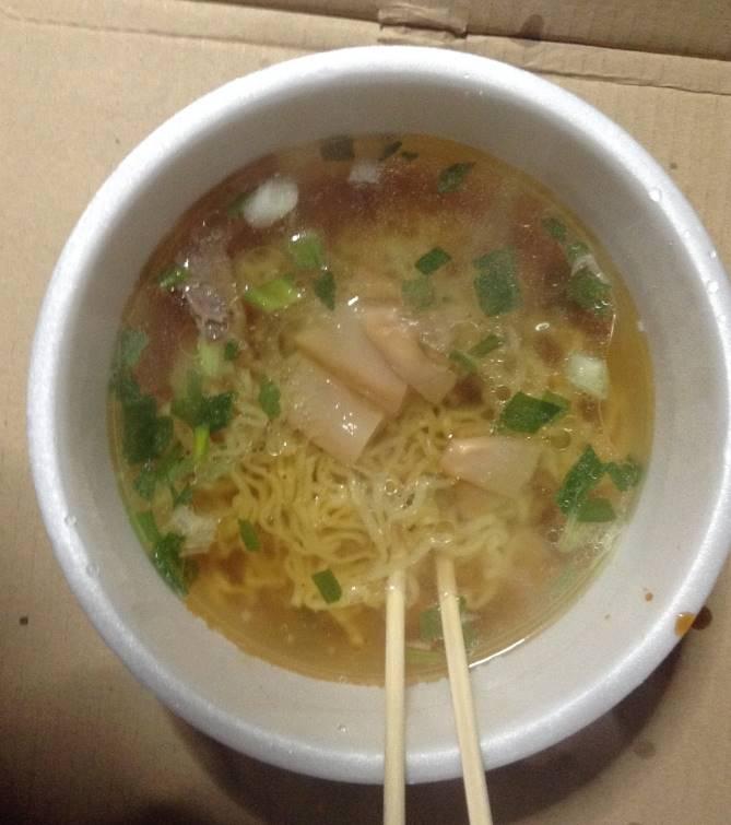 完成図 Japanese Soba Noodles 蔦のカップラーメン|セブンプレミアム