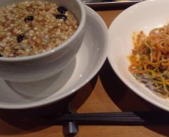 マヌカハニーとグラノーラのつけ麺+アサイースムージー 薬膳ラーメンドラゴン 東京都/亀戸