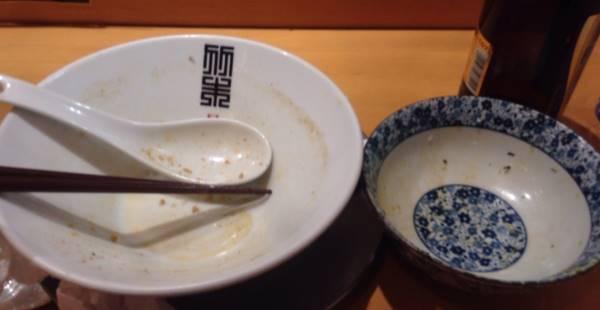 しょうが香る魚介そば|竹末東京プレミアムの限定麺と肉玉丼を完食した図