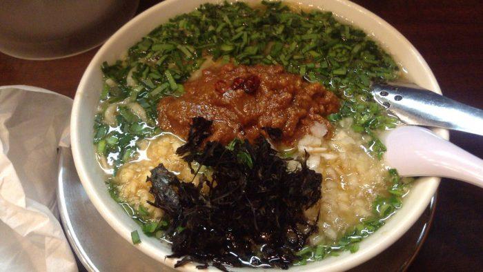 ニラ肉味噌らーめん:店舗らーめん潤亀戸店