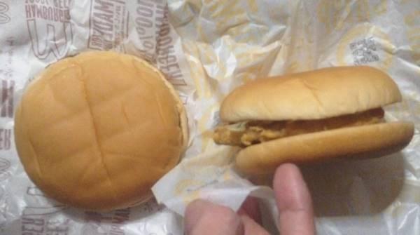 100円バーガー2種類 日本マクドナルド