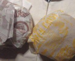 マクドナルドの100円バーガー ハンバーガーとチキンクリスプ