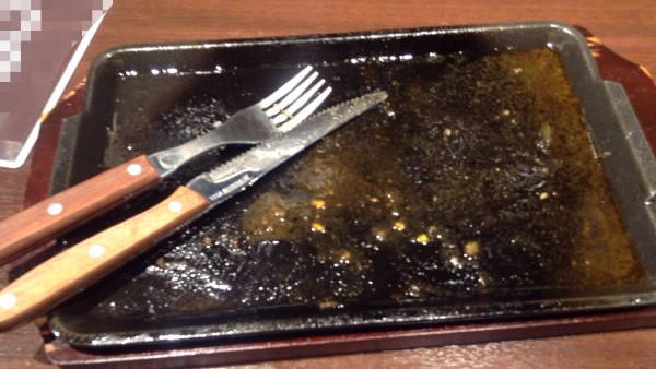 完食したリブロースステーキ|いきなり!ステーキ