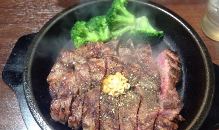 いきなり!ステーキのワイルドステーキ付け合わせをブロッコリーに変更