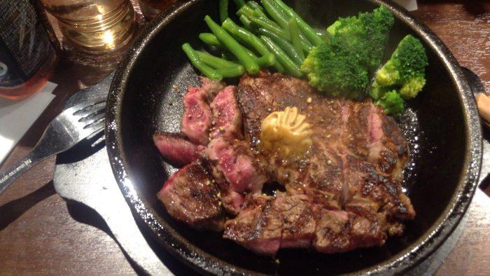 コーンをブロッコリーに変更のインゲン追加のワイルドステーキ