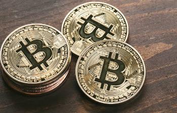 ビットコインの硬貨をモデルにしたコイン
