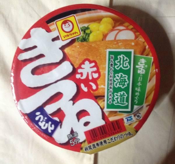 パッケージ 赤いきつね北海道版|カップうどん
