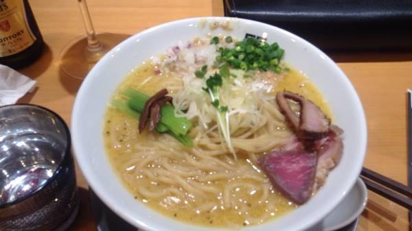 竹末東京プレミアムの鶏ホタテそば麺大盛り1000円