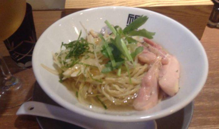 冷やし貝出汁そば 竹末東京プレミアムの限定麺