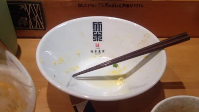 あさり出汁の味噌つけそばの麺の丼