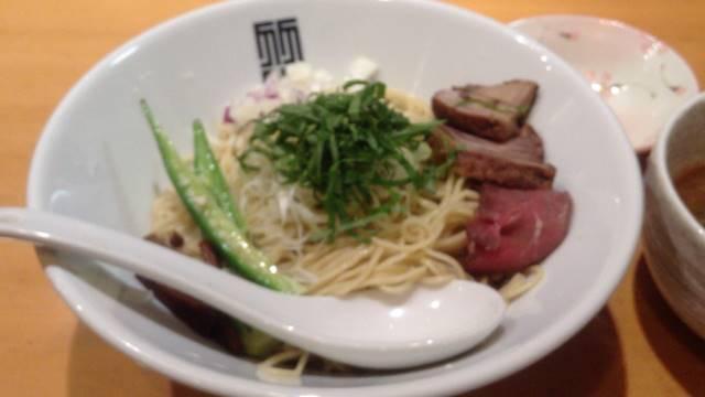 煮干しとちょっぴり牛出汁のあっさりつけ麺|竹末東京プレミアムの限定麺