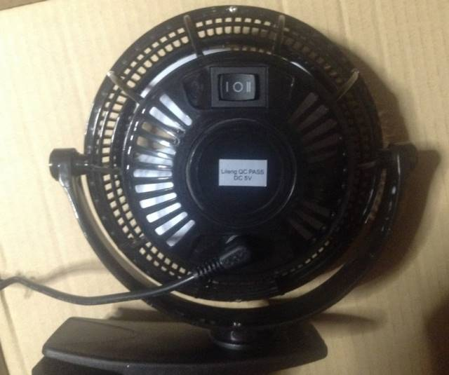 背面卓上扇風機『mini clip Table fan lileng 835』