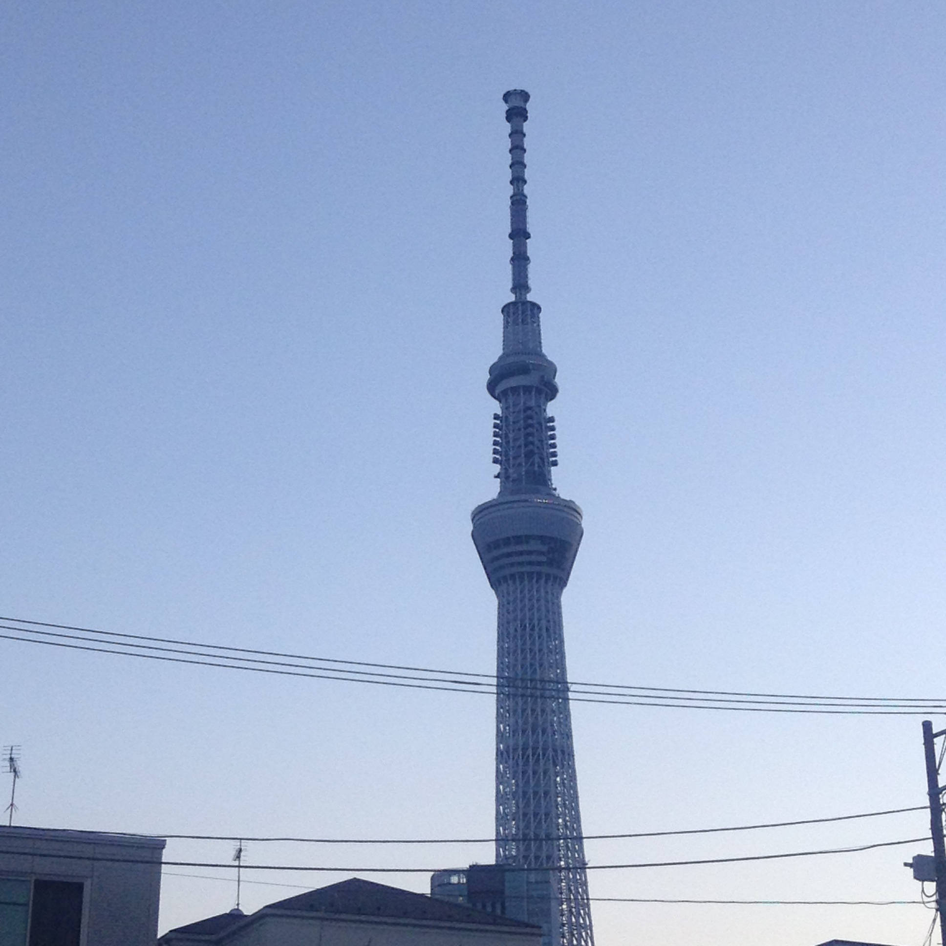 東京スカイツリー上部の写真