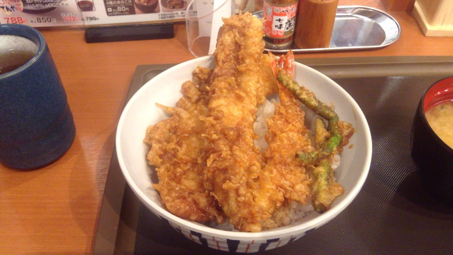 てんやの大江戸天丼(玉子無)
