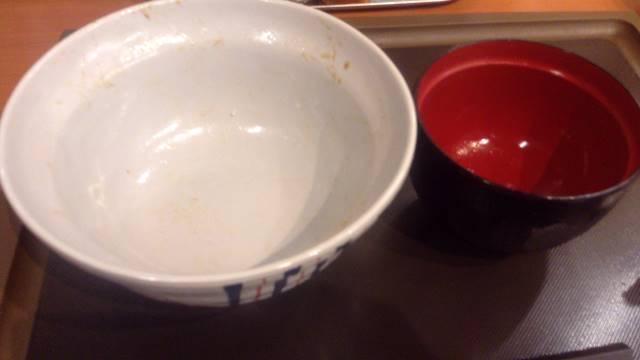 完食した図 てんやの大江戸天丼(玉子無)