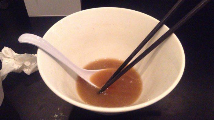 食べ終えた写真 のじじ 煮干し中華そば750円