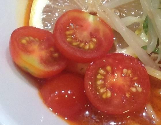 トマト:竹末東京プレミアムの限定麺