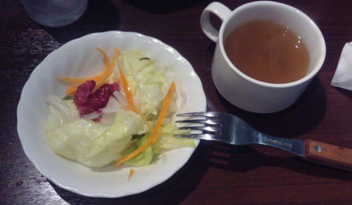サラダとスープ(いきなり!ステーキ)
