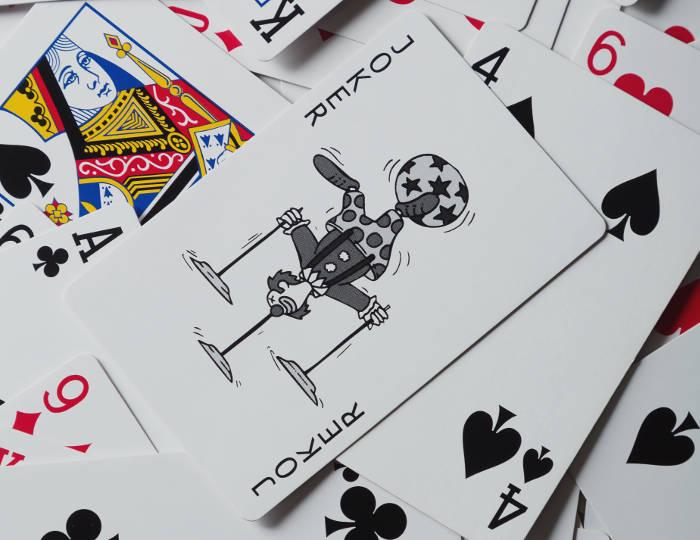 トランプのジョーカーのカード