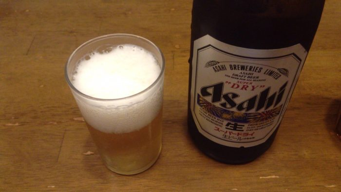 らーめん曳舟の瓶ビールはアサヒスーパードライだった