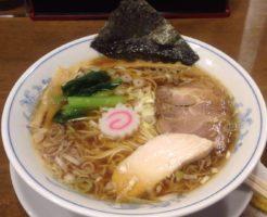らーめん曳舟「らーめん醤油」750円