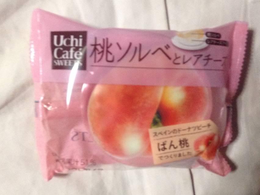 Uchi cafe桃とレアチーズ ローソン