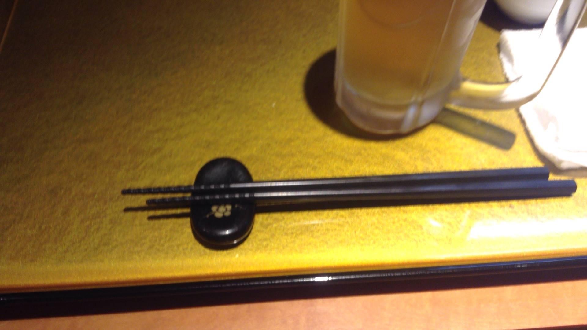 ビールと箸
