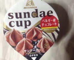 サンデーカップという名称の森永のラクトアイスパッケージ写真