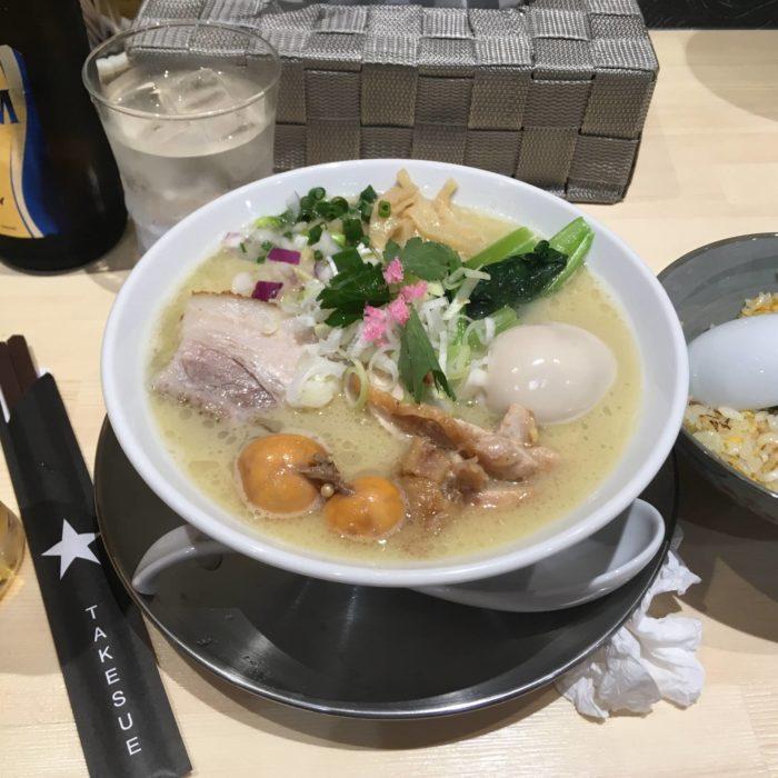 和風ピンポン竹末 味玉 鯛潮らーめん1000円