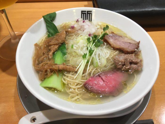 竹末東京プレミアムの塩そば800円