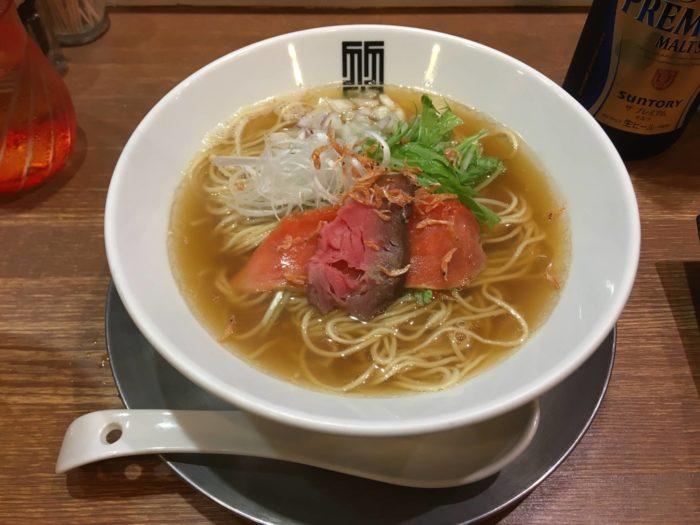 限定麺 懐かしの飛魚煮干しそば900円(竹末東京プレミアム)