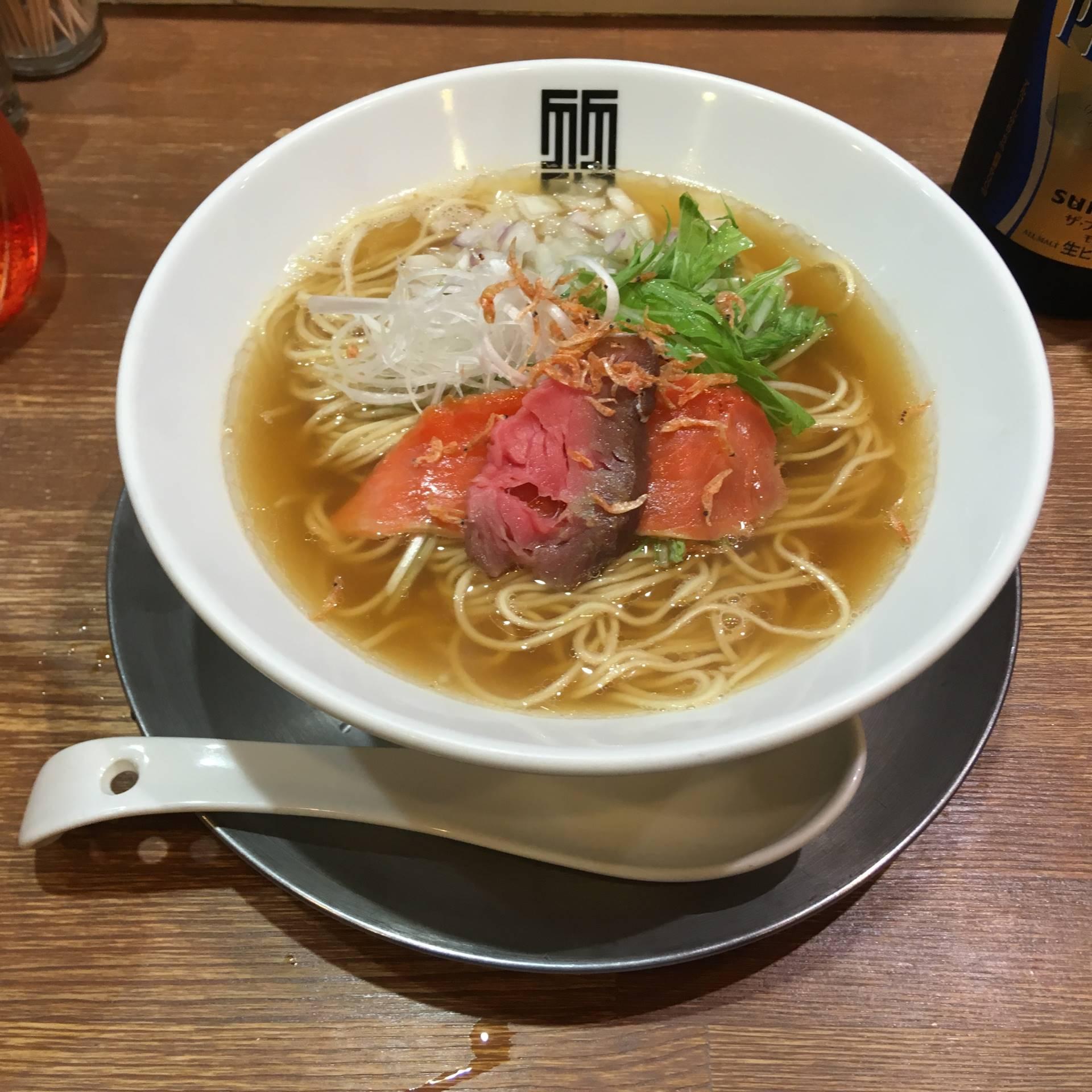 限定麺 懐かしの飛魚出汁そば900円(竹末東京プレミアム)