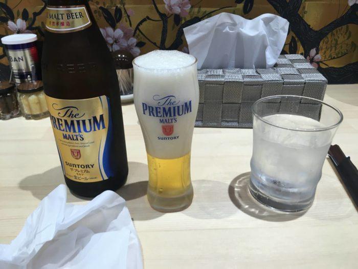 和風ピンポン竹末  ビール500円