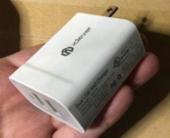 本体の写真 iClever 2ポート USB充電器 24W