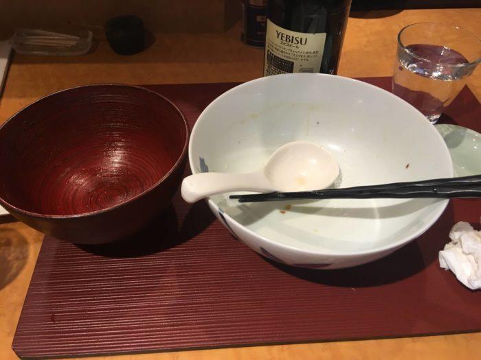 麺 みつヰ の「麺」 塩 細麺とソースかつ丼完食