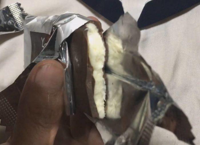 食べた図 森永製菓「板チョコアイス」ベルギー産チョコレート