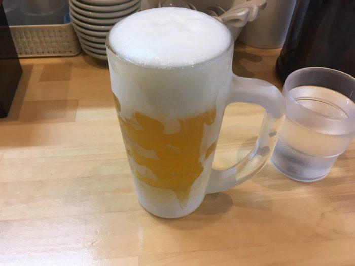 ラーメンソレナリのビール450円
