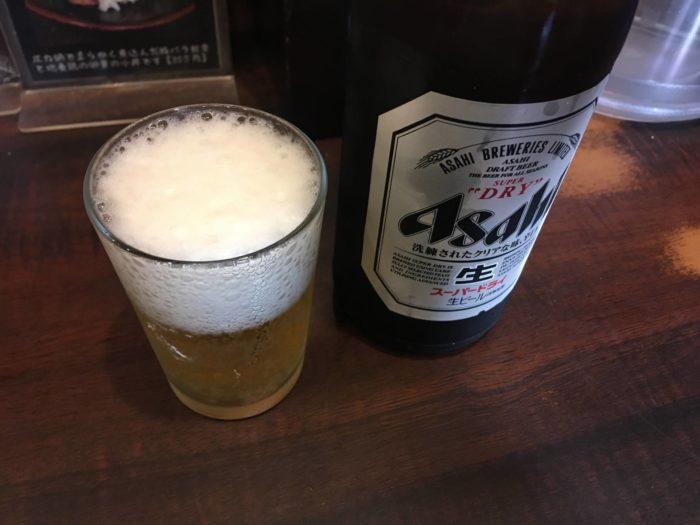 らーめん潤亀戸店500円のビール