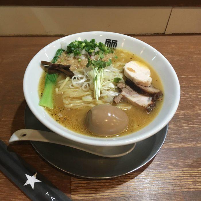 竹末東京プレミアム鶏ホタテそば麺大盛り+味玉