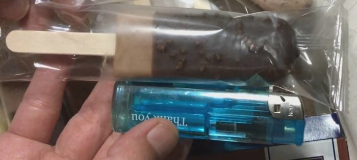 3種類のチョコレートバー(ラクトアイス)のサイズ