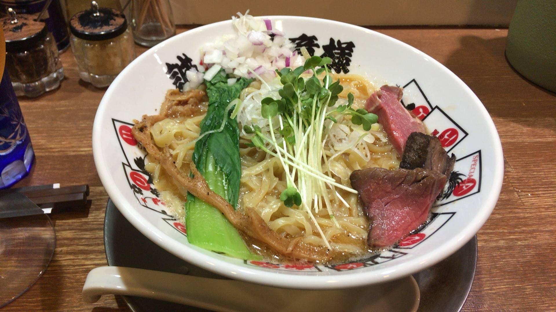 竹末東京プレミアムヤシオマスの塩そば 麺大盛り980円