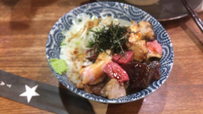 肉玉丼 (玉子抜きで注文)300円